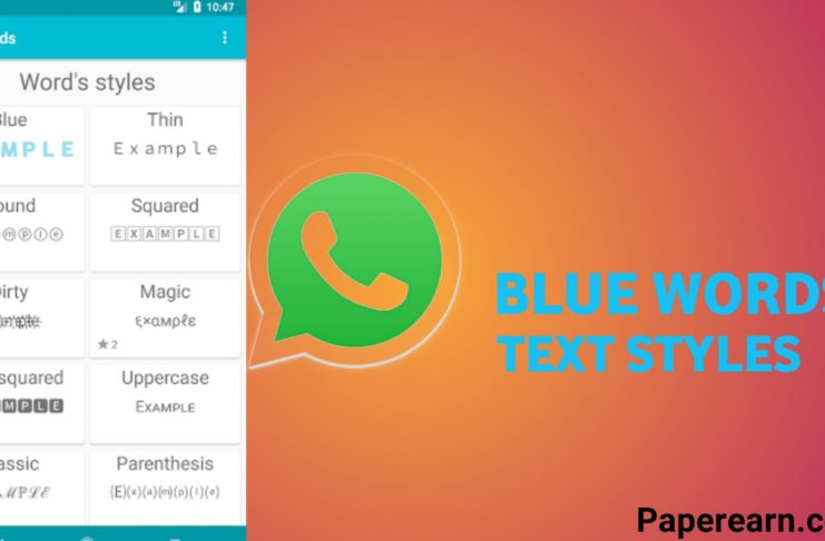 BlueWords - Text Styles Message
