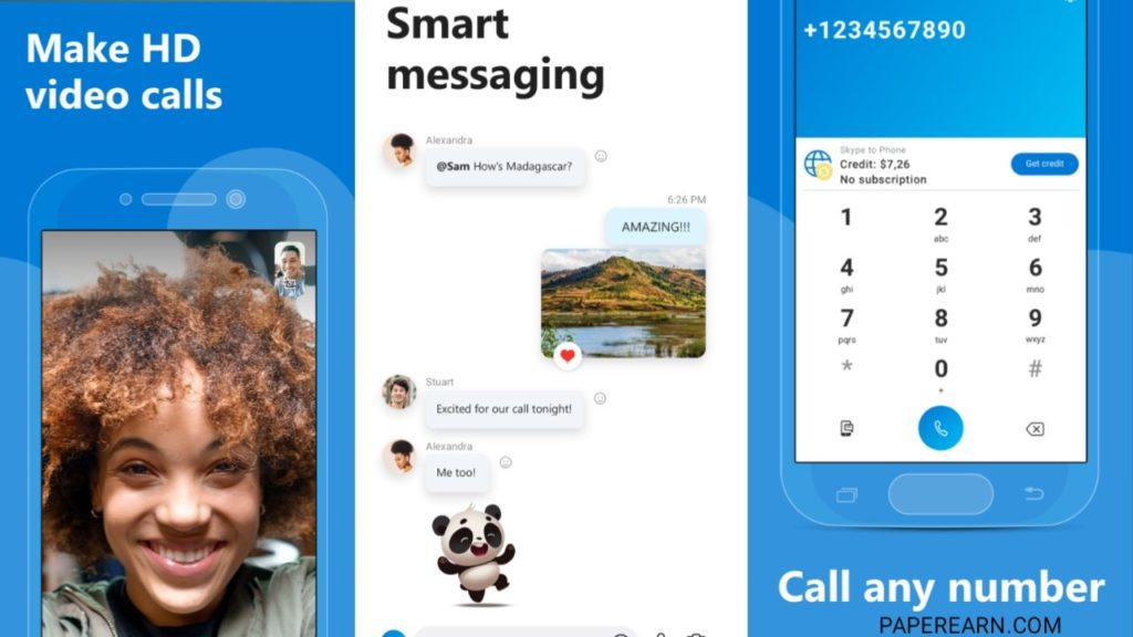 Skype Video Calling app - paperearn.com