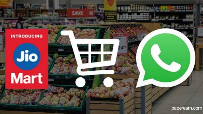 How to order at jio mart from WhatsApp