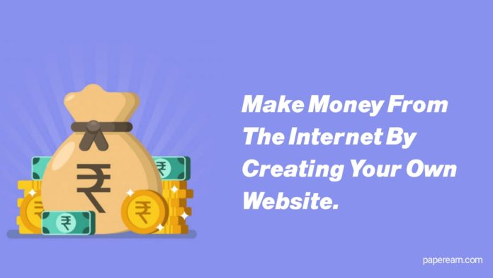 internet by creating your own website.
