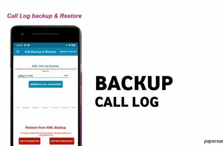 Call Log Backup