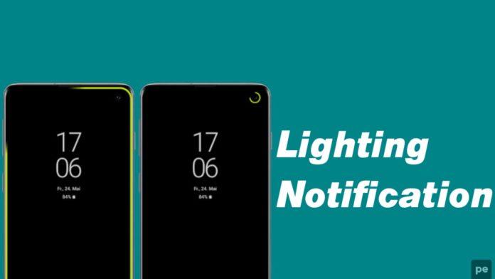 Edge Lighting Notification