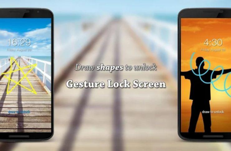 Gesture Lock Screen Android App.