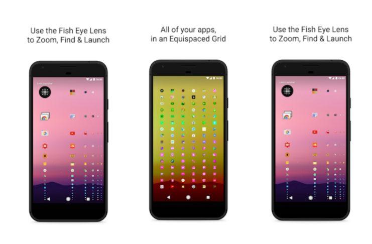 Lens Launcher Unique, Efficient Way Launch App.