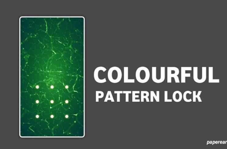 colorful pattern lock screen