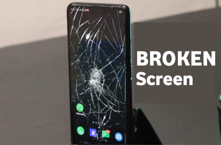 Broken Screen Background Wallpaper