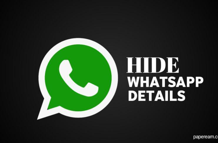 Hide your Whatsapp details