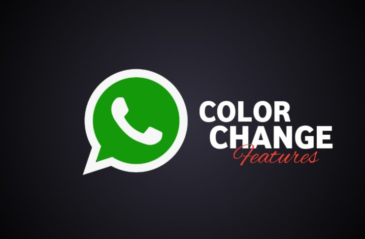 WhatsApp color change feature.