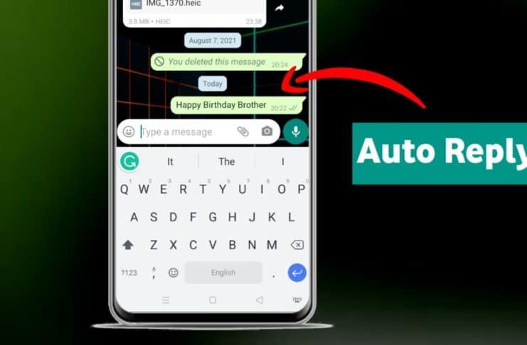 WhatsApp will automatically reply