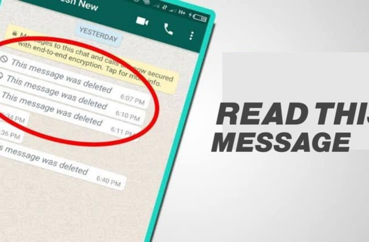 deleted messages on WhatsApp