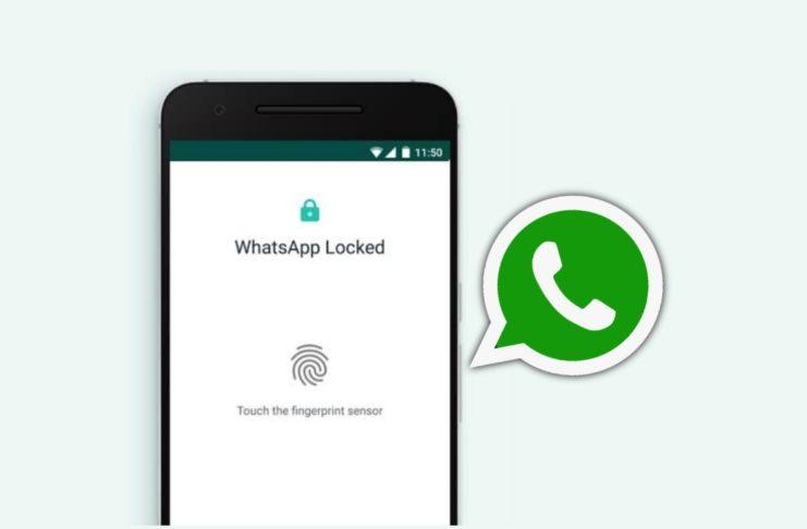 put fingerprint in WhatsApp