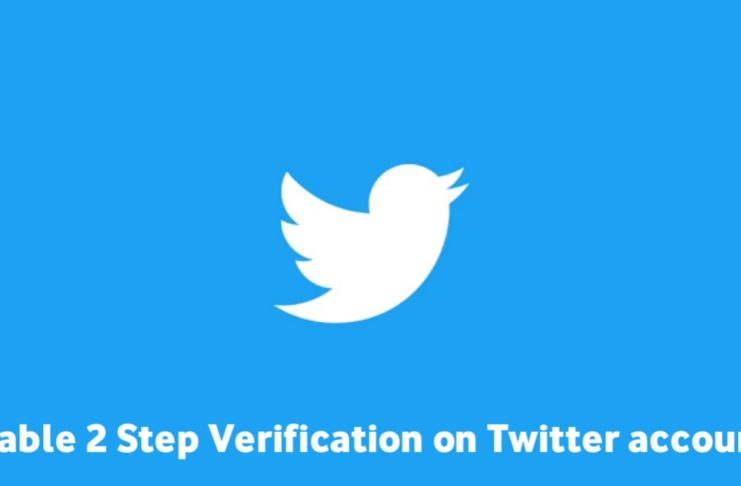 Enable 2 Step-Verification on twitter