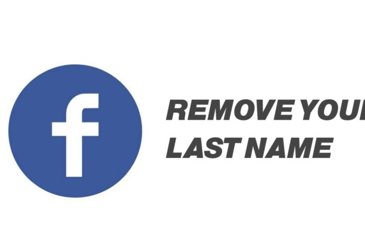Remove last name from Facebook account