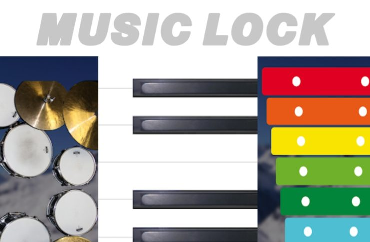 music lock your screen